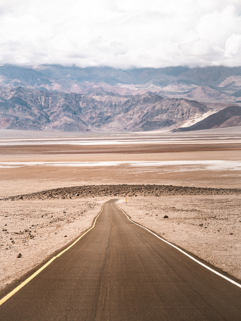 Long Road In Death Valley