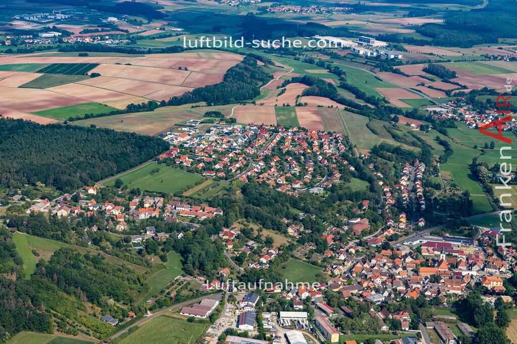 burghaslach-19-775 | aktuelles Luftbild von  Burghaslach - Luftaufnahme wurde 2019 von https://frankenair.de mittels Flugzeug (keine Drohne) erstellt.