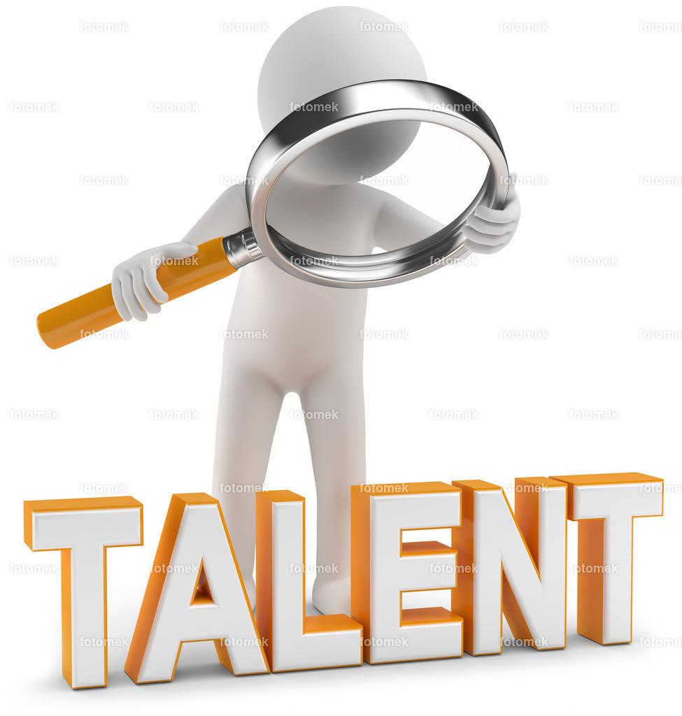 Lupe_Talentscout | weisse 3D Männchen von Fotomek