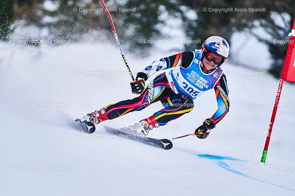 ALS5654_WWMG_GS-II_C | (C) FotoLois.com, Alois Spandl, WinterWorldMastersGames 2020 Innsbruck, Giant Slalom-II Gruppe C Damen, Patscherkofel Olympiaabfahrt, Mi 15. Jänner 2020.