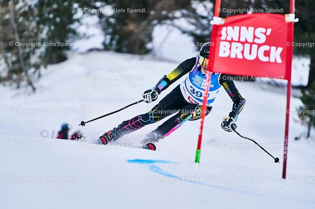 ALS5643_WWMG_GS-II_C | (C) FotoLois.com, Alois Spandl, WinterWorldMastersGames 2020 Innsbruck, Giant Slalom-II Gruppe C Damen, Patscherkofel Olympiaabfahrt, Mi 15. Jänner 2020.