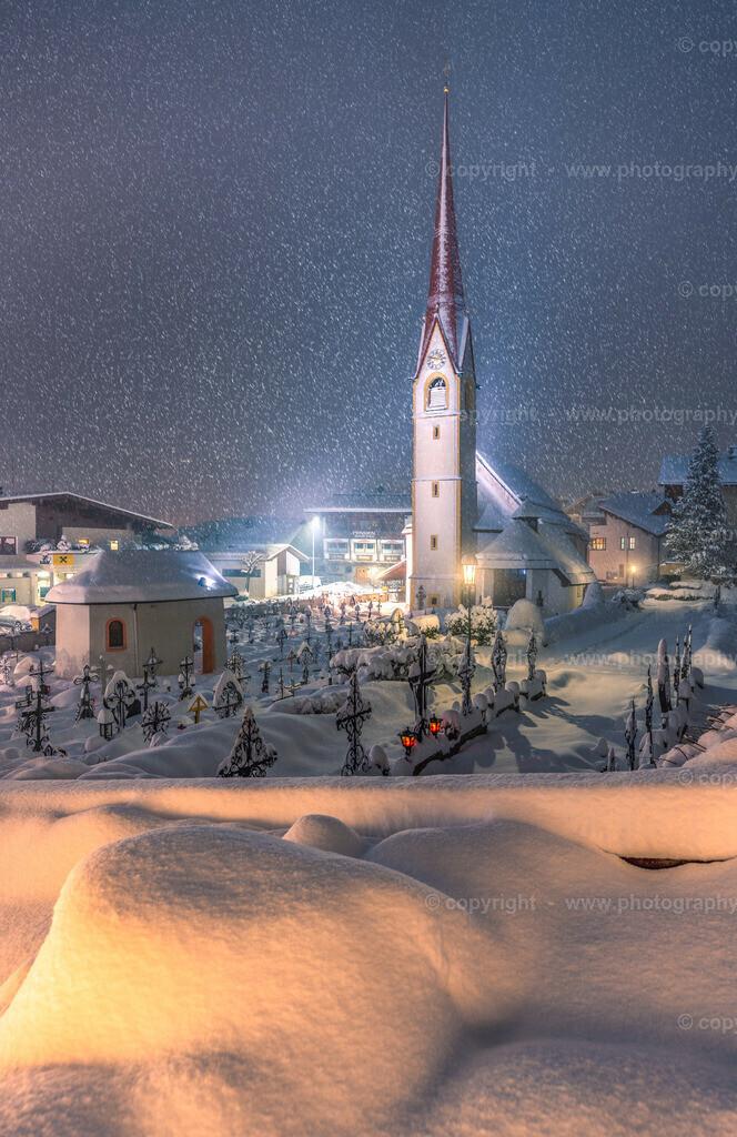 Lanersbach bei Schneefall