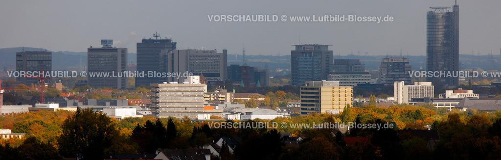 ES10103960 | Skyline von Essen, das Wolkenspeil im Herbst RWE, Rathaus,  Muelheim an der Ruhr, Ruhrgebiet, North Rhine-Westphalia, Germany, Europa