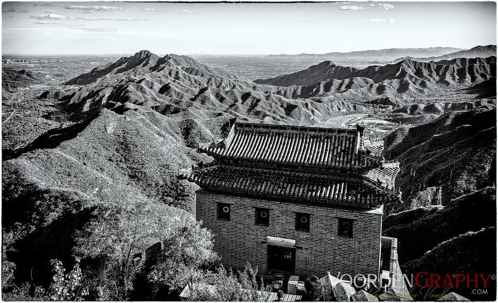 Blick von der chinesischen Mauer auf Peking