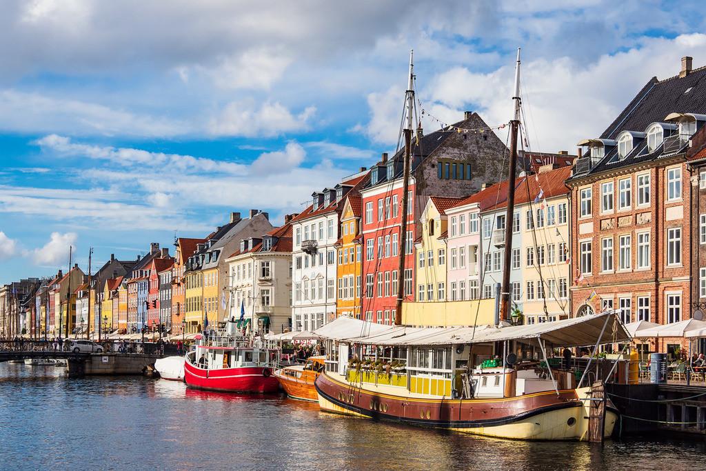 Nyhavn in der Stadt Kopenhagen, Dänemark | Nyhavn in der Stadt Kopenhagen, Dänemark.