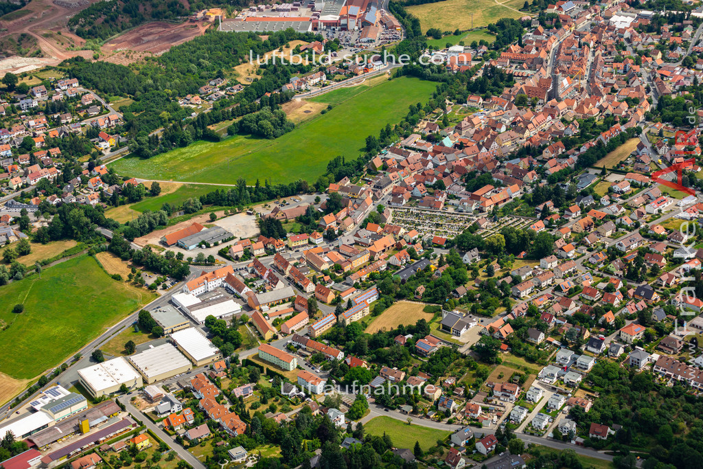 langenzenn-19-164 | aktuelles Luftbild von  Langenzenn - Luftaufnahme wurde 2019 von https://frankenair.de mittels Flugzeug (keine Drohne) erstellt.