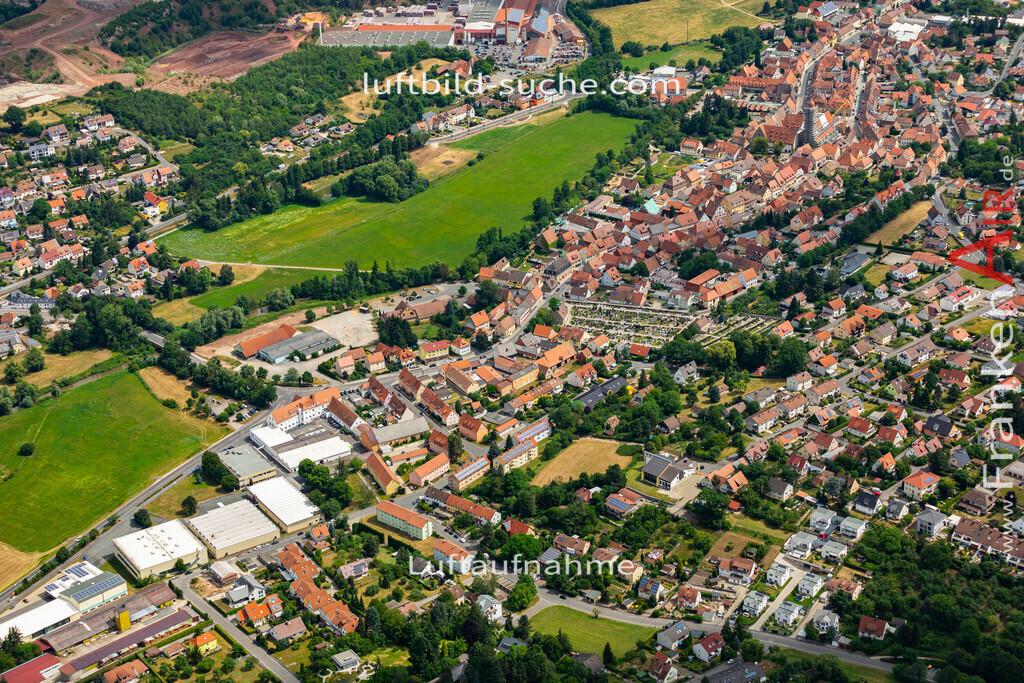 langenzenn-19-164   aktuelles Luftbild von  Langenzenn - Luftaufnahme wurde 2019 von https://frankenair.de mittels Flugzeug (keine Drohne) erstellt.
