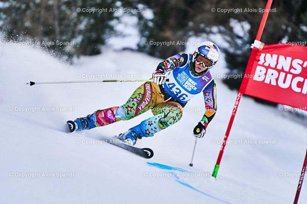 ALS5854_WWMG_GS-II_C | (C) FotoLois.com, Alois Spandl, WinterWorldMastersGames 2020 Innsbruck, Giant Slalom-II Gruppe C Damen, Patscherkofel Olympiaabfahrt, Mi 15. Jänner 2020.