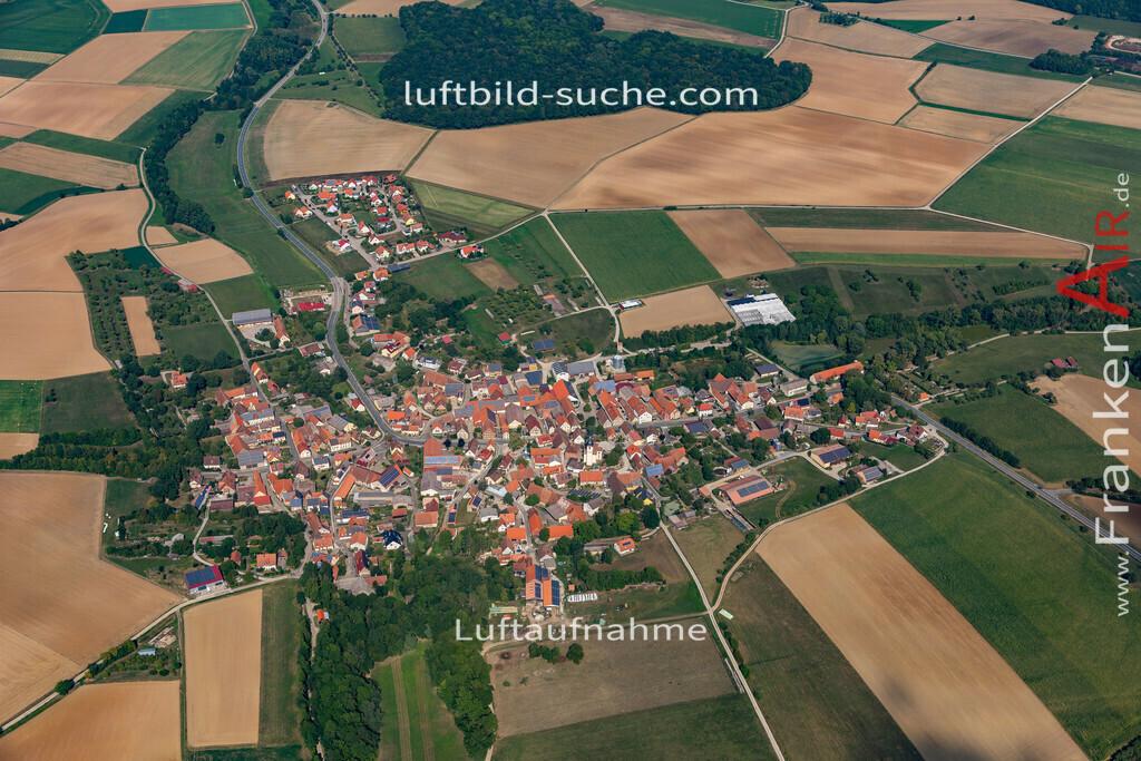 welbhausen-19-684 | aktuelles Luftbild von Welbhausen   - Luftaufnahme wurde 2019 von https://frankenair.de mittels Flugzeug (keine Drohne) erstellt.