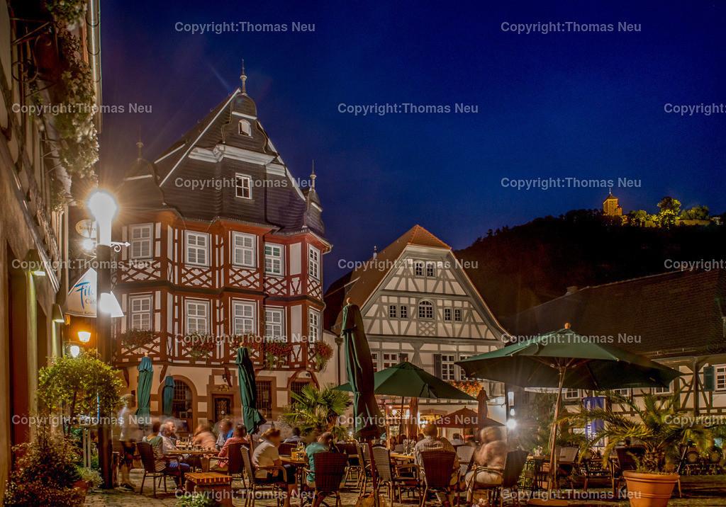 Heppenheim Kopie | Marktplatz Heppenheim bei Nacht,, Bild: Thomas Neu