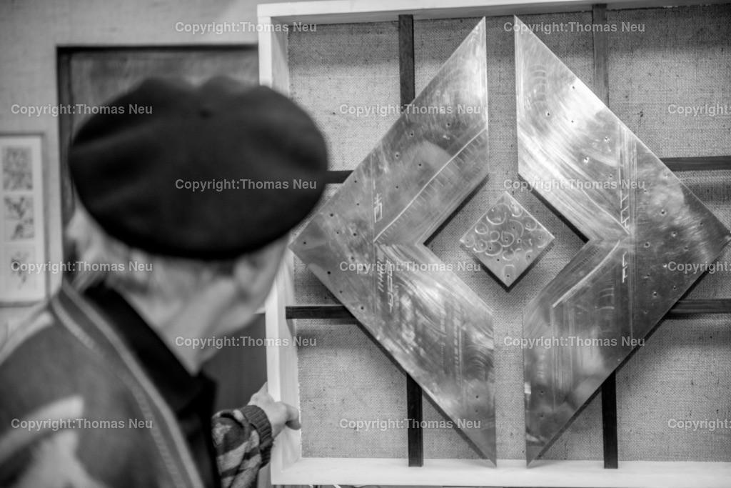 Erich_Stahl_2014-6 | Erich Stahl in seinem Atelier 2014, ,, Bild: Thomas Neu