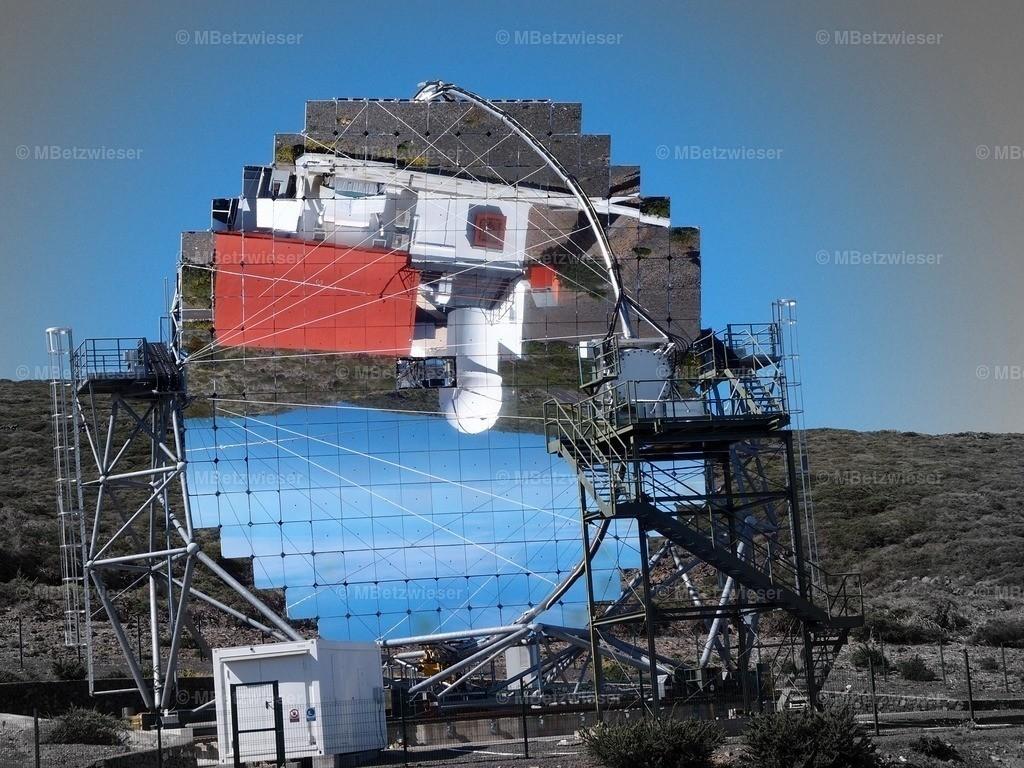P5040769 | Spiegelbild im Magic II Teleskop auf dem Roque de Los Muchachos auf La Palma