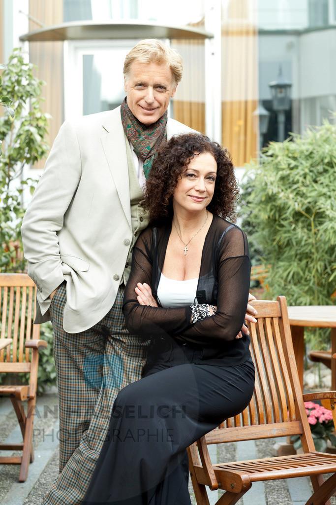 Barbara Wussow und Ehemann Albert Fortell | Fototermin in Hamburg am 30.09.09 zum ARD Fernsehfilm