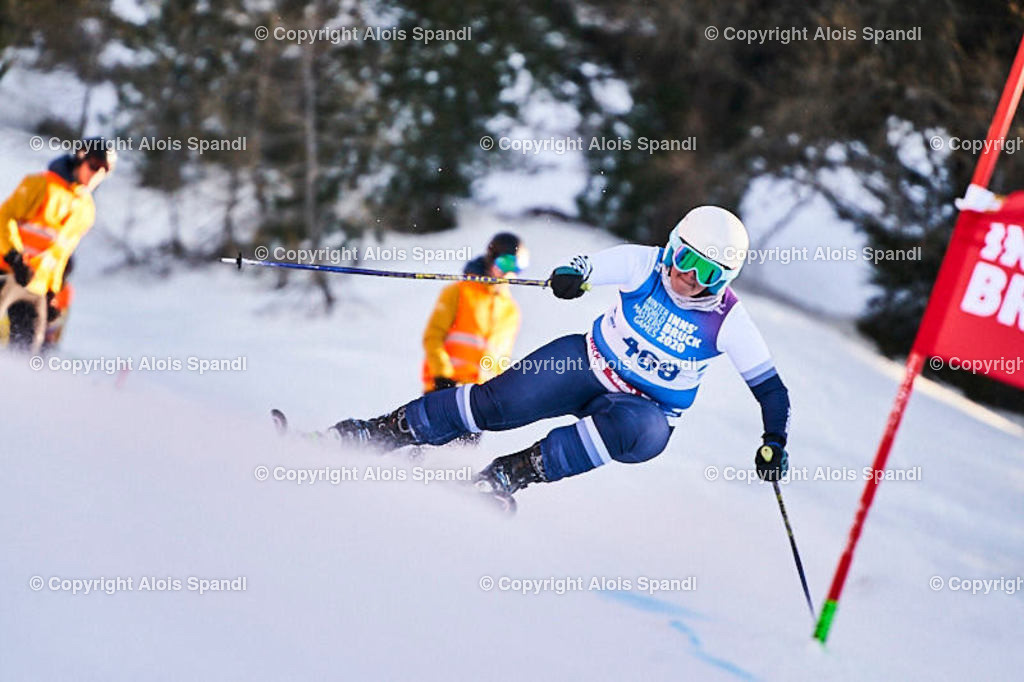 ALS6027_WWMG_GS-II_C | (C) FotoLois.com, Alois Spandl, WinterWorldMastersGames 2020 Innsbruck, Giant Slalom-II Gruppe C Damen, Patscherkofel Olympiaabfahrt, Mi 15. Jänner 2020.