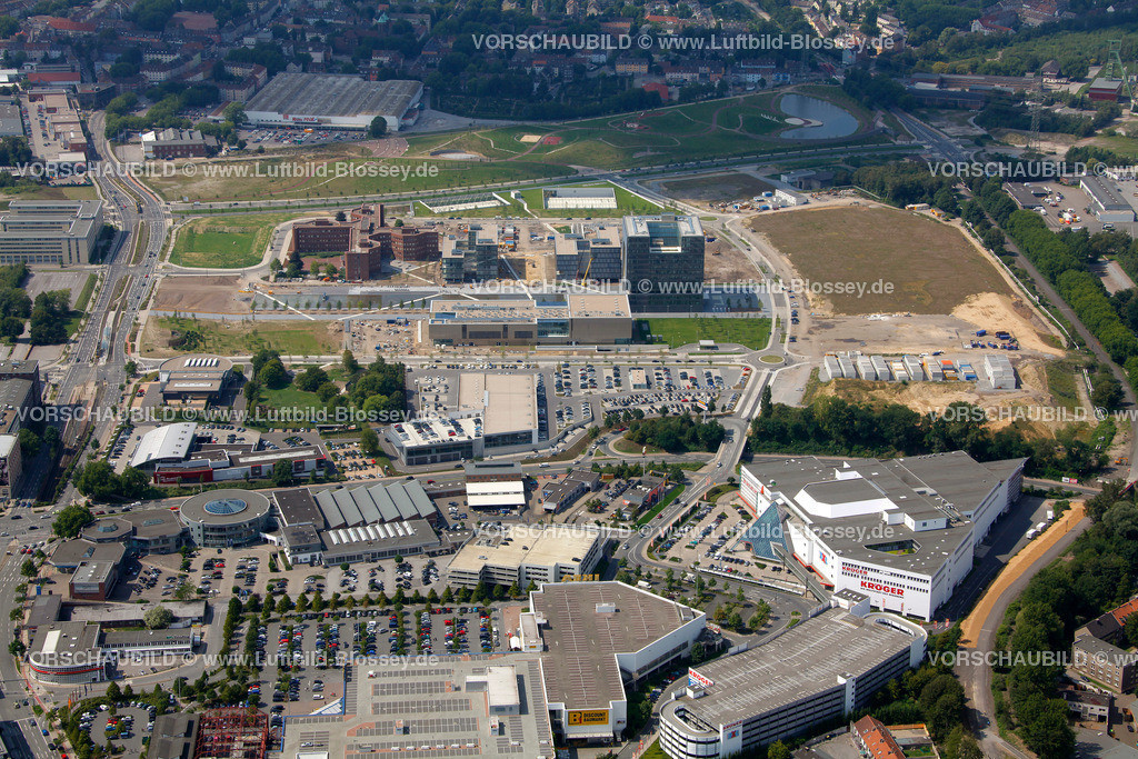 ES10080378 | ThyssenKrupp ThyssenKrupp-Quartier,  Essen, Ruhrgebiet, Nordrhein-Westfalen, Germany, Europa, Foto: hans@blossey.eu, 14.08.2010