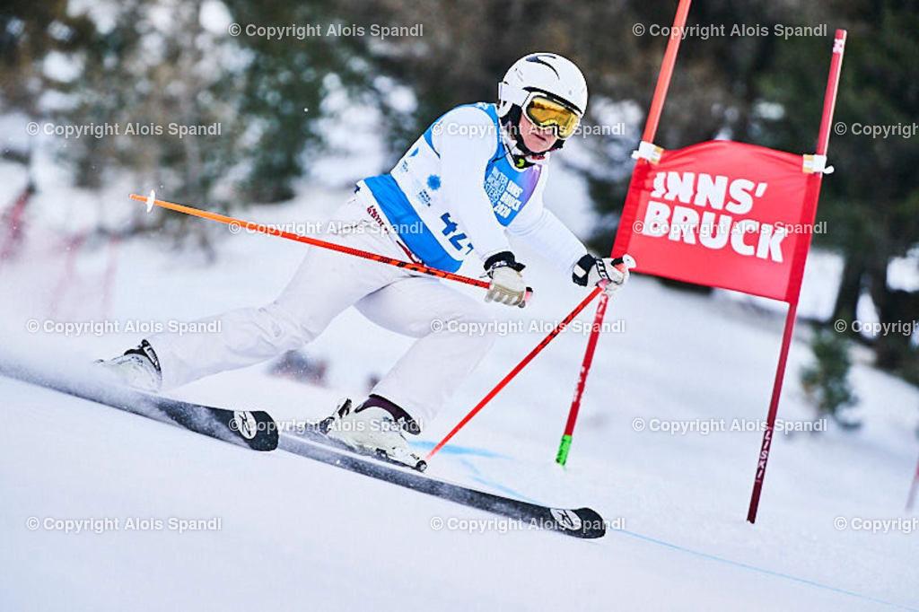 ALS5805_WWMG_GS-II_C   (C) FotoLois.com, Alois Spandl, WinterWorldMastersGames 2020 Innsbruck, Giant Slalom-II Gruppe C Damen, Patscherkofel Olympiaabfahrt, Mi 15. Jänner 2020.