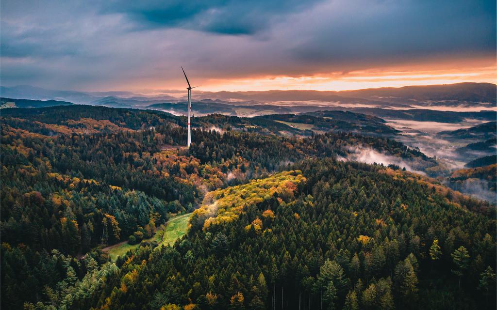 Herbstlicher Schwarzwald | Herbstliches Schwarzwaldpanorama bei Freiamt