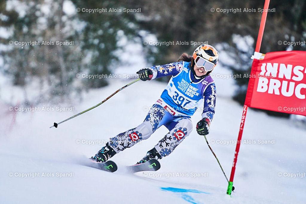 ALS5668_WWMG_GS-II_C   (C) FotoLois.com, Alois Spandl, WinterWorldMastersGames 2020 Innsbruck, Giant Slalom-II Gruppe C Damen, Patscherkofel Olympiaabfahrt, Mi 15. Jänner 2020.
