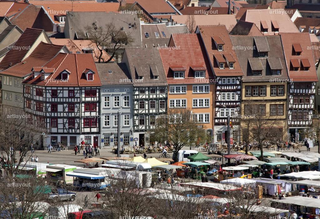 Erfurt | Markt auf dem Erfurter Domplatz