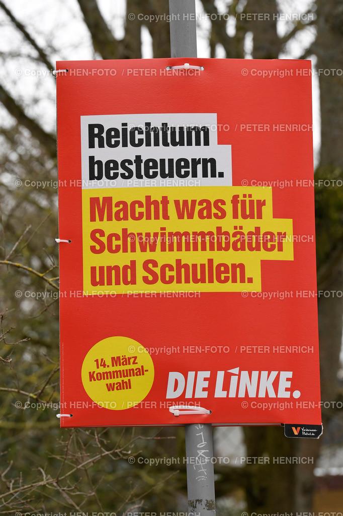 Wahlplakat Kommunalwahl 14. März 2021   Wahlplakat Kommunalwahl 14. März 2021 copyright by HEN-FOTO - Peter Henrich