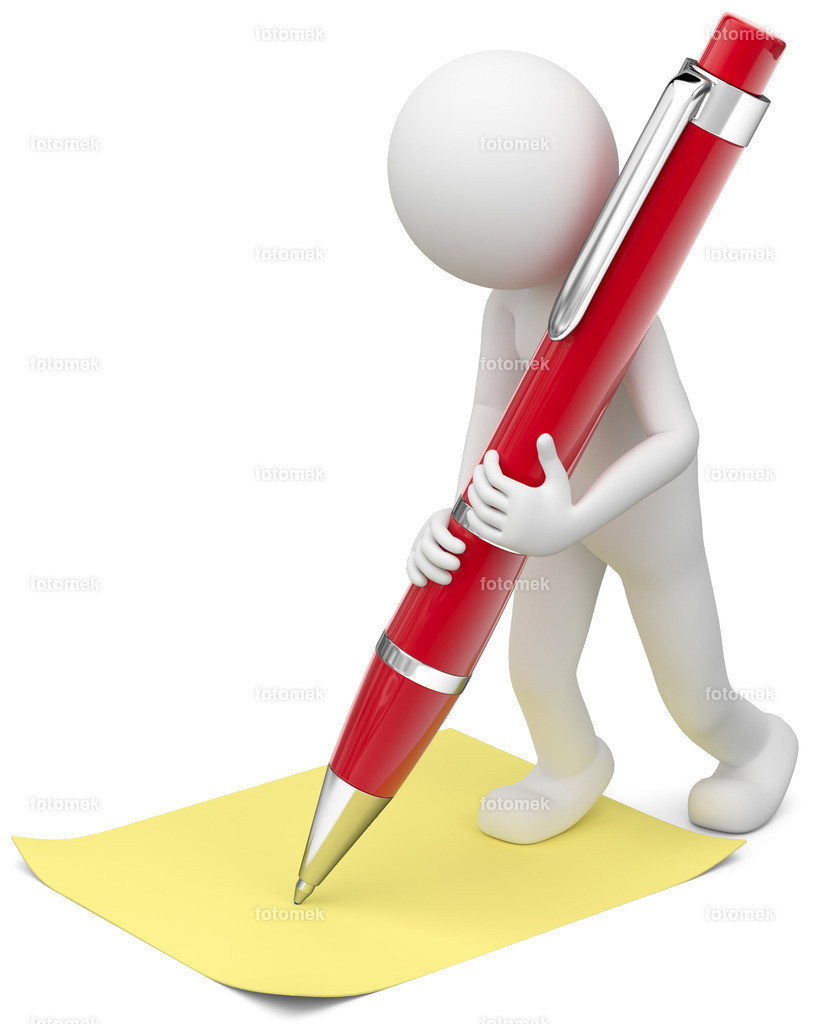 3d männchen mit kugelschreiber