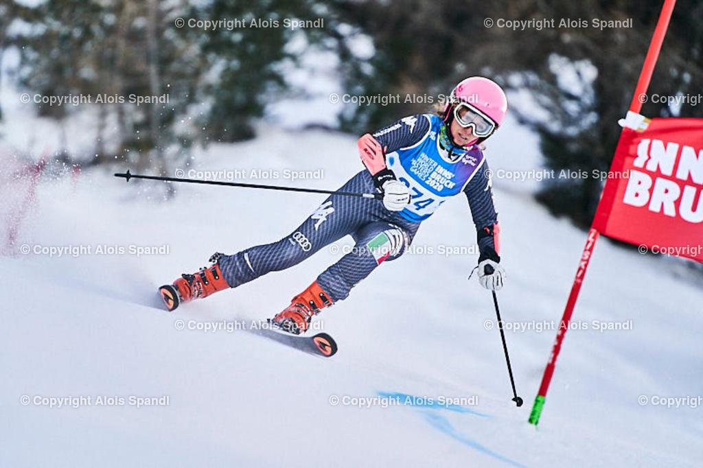 ALS5534_WWMG_GS-II_C | (C) FotoLois.com, Alois Spandl, WinterWorldMastersGames 2020 Innsbruck, Giant Slalom-II Gruppe C Damen, Patscherkofel Olympiaabfahrt, Mi 15. Jänner 2020.
