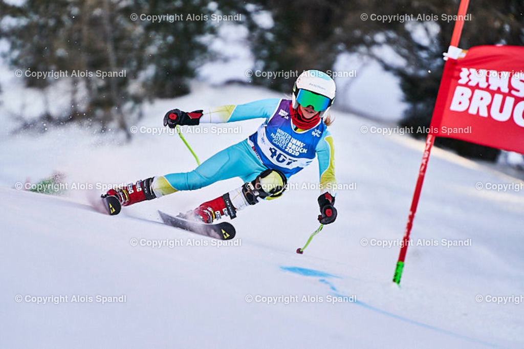 ALS6009_WWMG_GS-II_C | (C) FotoLois.com, Alois Spandl, WinterWorldMastersGames 2020 Innsbruck, Giant Slalom-II Gruppe C Damen, Patscherkofel Olympiaabfahrt, Mi 15. Jänner 2020.