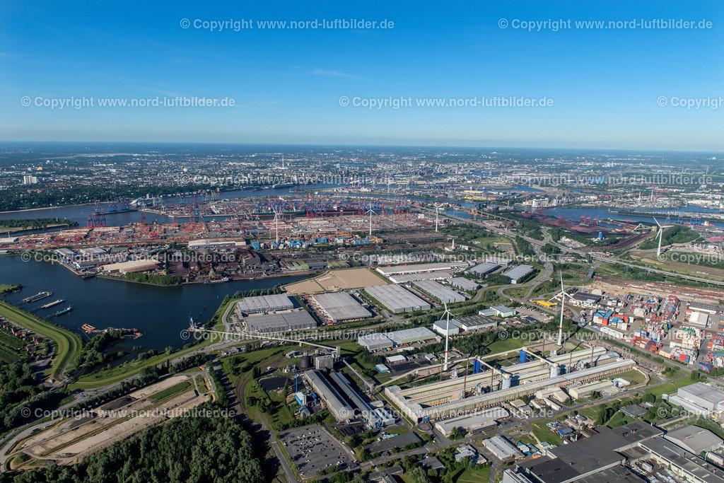 Hamburg Altenwerder Trimet Aluminium SE_ELS_0193030617 | Hamburg - Aufnahmedatum: 01.06.2017, Aufnahmehöhe: 506 m, Koordinaten: N53°30.518' - E9°52.670', Bildgröße: 7360 x  4912 Pixel - Copyright 2017 by Martin Elsen, Kontakt: Tel.: +49 157 74581206, E-Mail: info@schoenes-foto.de  Schlagwörter:Hamburg,Luftbild, Luftbilder, Deutschland
