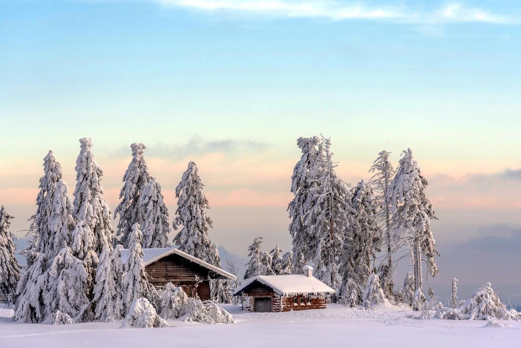 Winterlandschaft auf der Hornisgrinde | Schöne Winterlandschaft auf dem höchsten Berg des Nordschwarzwaldes, der Hornisgrinde