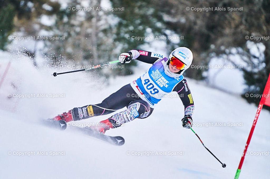 ALS5722_WWMG_GS-II_C | (C) FotoLois.com, Alois Spandl, WinterWorldMastersGames 2020 Innsbruck, Giant Slalom-II Gruppe C Damen, Patscherkofel Olympiaabfahrt, Mi 15. Jänner 2020.