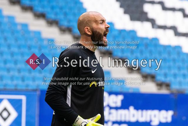 Fußball, Herren, Testspiel, Hamburger SV - FC Hansa Rostock, Volksparkstadion, 09.08.2020   Markus Kolke (#1 Hansa Rostock Torwart)