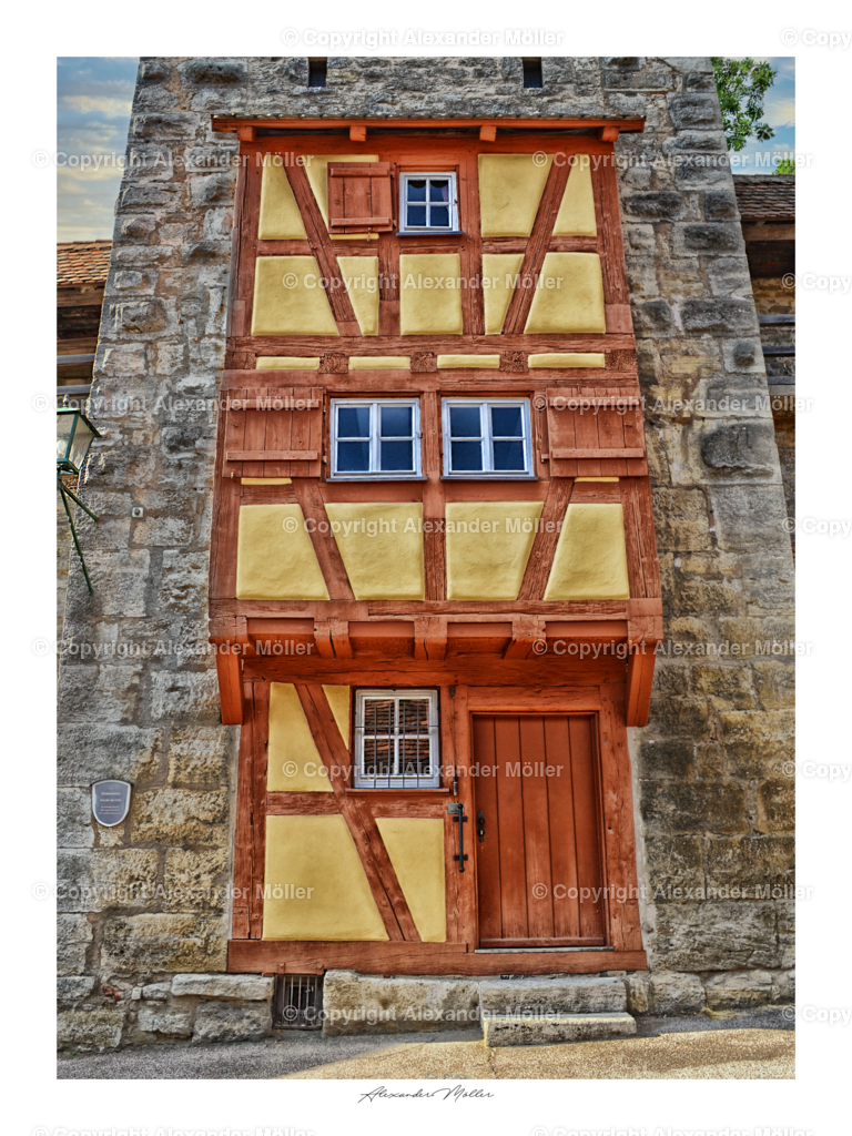 Rothenburg ob der Tauber No.52   Dieses Werk zeigt den Henkersturm mit Henkersrwohnung von Rothenburg.