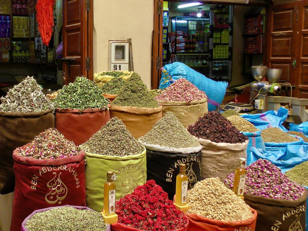 Gewürzhandel in Marrakesch