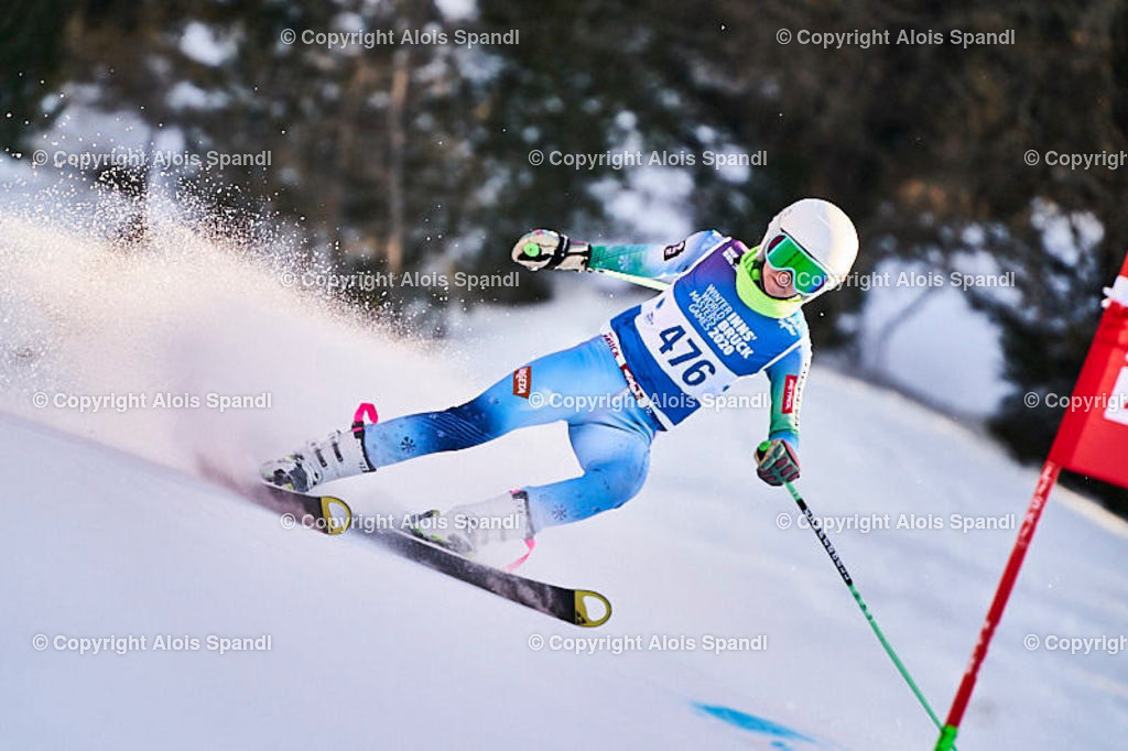 ALS6068_WWMG_GS-II_C | (C) FotoLois.com, Alois Spandl, WinterWorldMastersGames 2020 Innsbruck, Giant Slalom-II Gruppe C Damen, Patscherkofel Olympiaabfahrt, Mi 15. Jänner 2020.