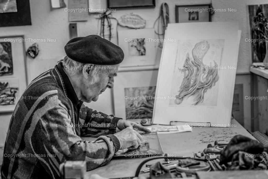 Erich_Stahl_2014 | Erich Stahl in seinem Atelier 2014, ,, Bild: Thomas Neu