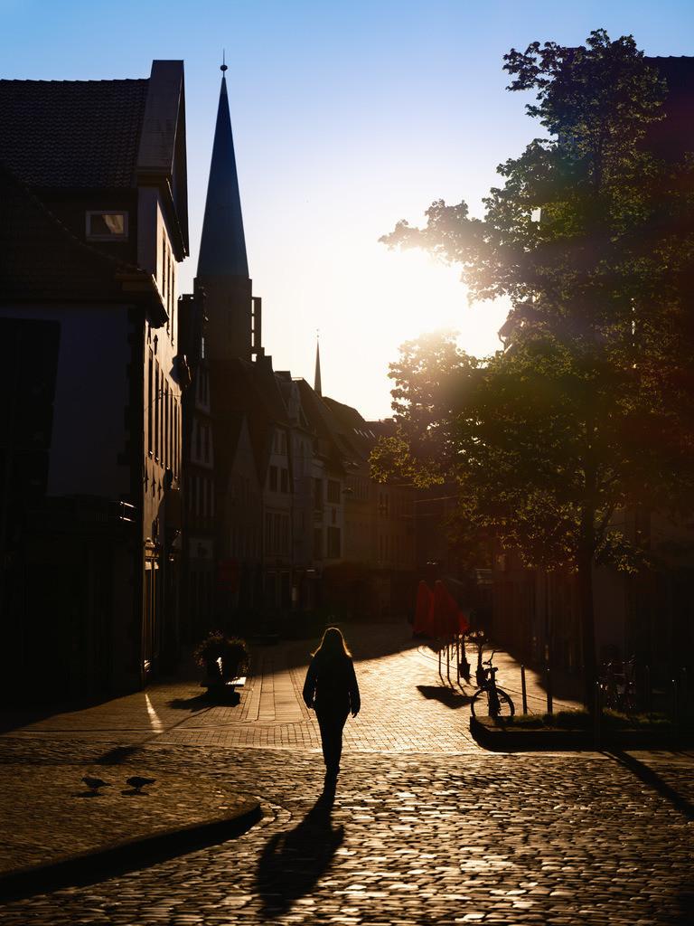 Früh morgens in der Obernstraße | Früh morgen in der Obernstraße (Bielefeld)