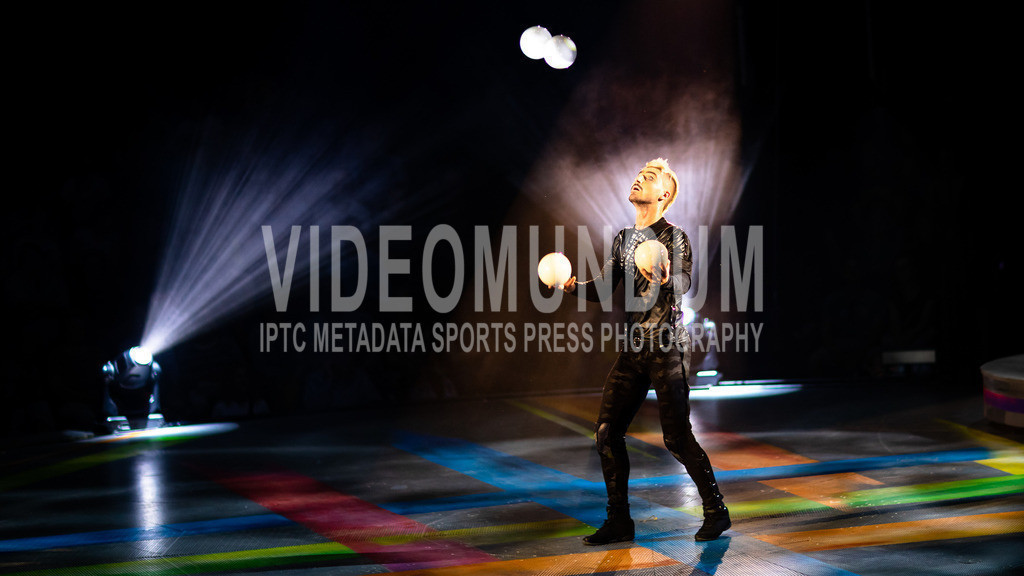 Düsseldorf, Germany  - April 24, 2019: PUNXXX by Circus Flic Flac | Düsseldorf, Germany - April 24, 2019: Performing acrobats on stage at PUNXXX show by Circus Flic Flac