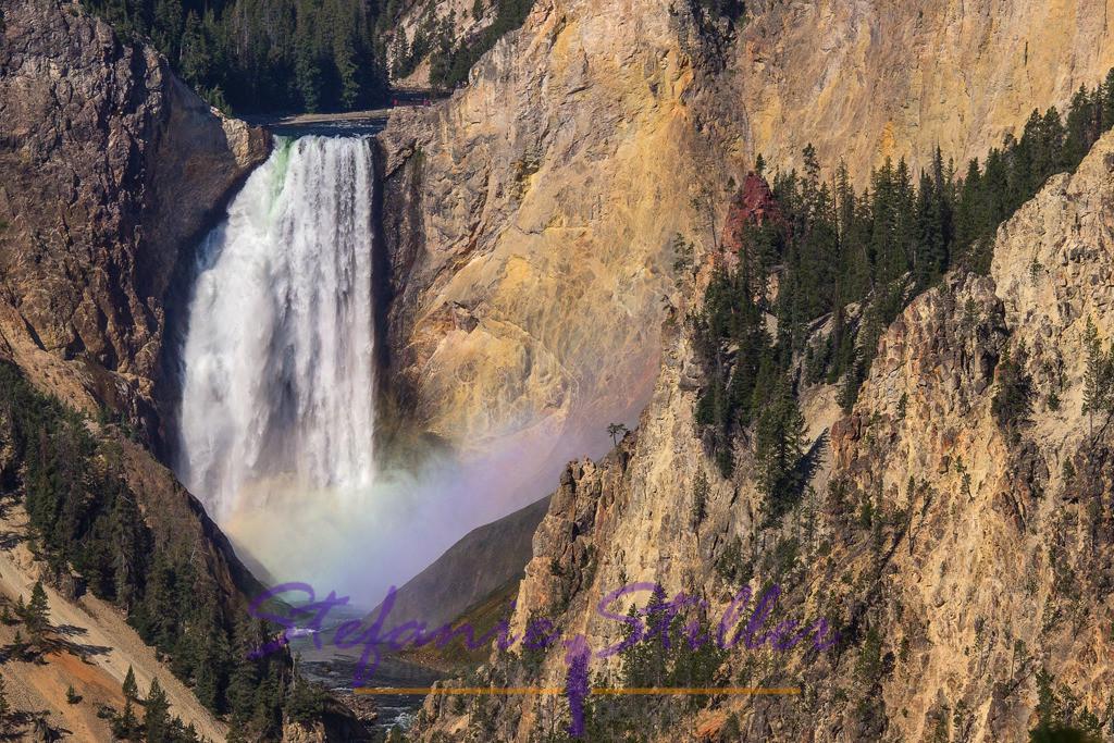 Lower Falls with rainbow / Lower Falls mit Regenbogen | Close-up of the rainbow at the Lower Falls /  Nahaufnahme des Regenbogen in den Lower Falls