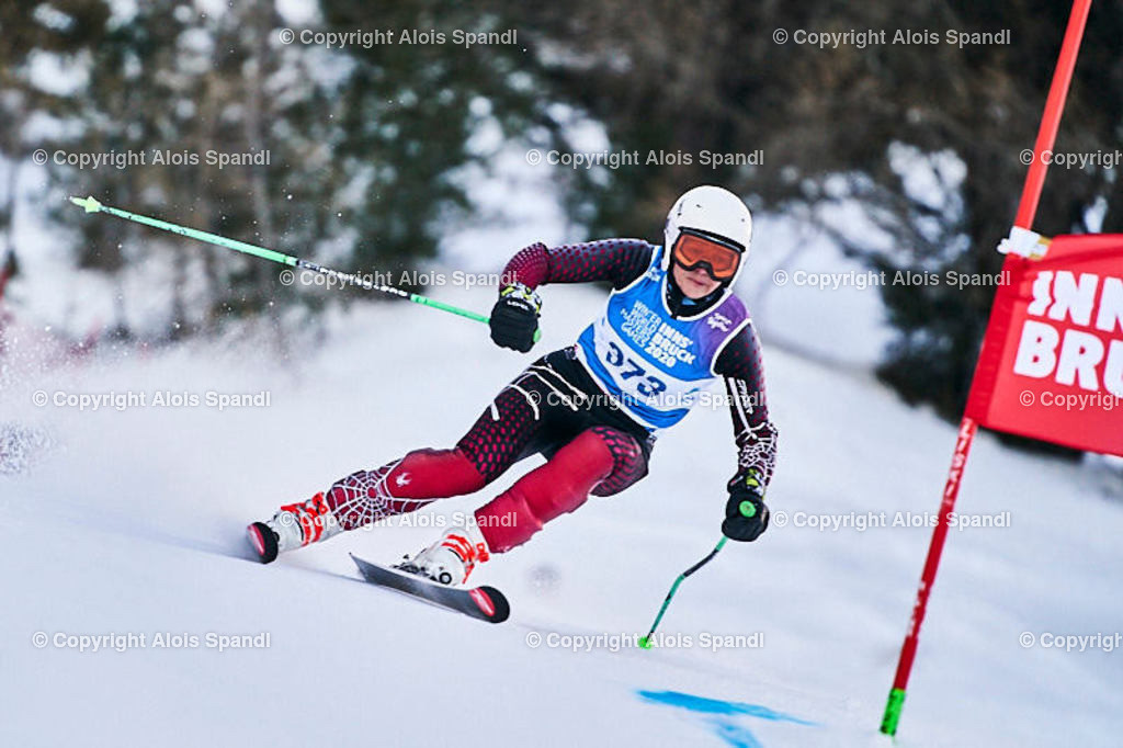 ALS5528_WWMG_GS-II_C | (C) FotoLois.com, Alois Spandl, WinterWorldMastersGames 2020 Innsbruck, Giant Slalom-II Gruppe C Damen, Patscherkofel Olympiaabfahrt, Mi 15. Jänner 2020.