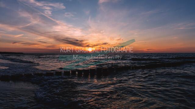 Ostsee, Sonnenuntergang an der Ostsee, Zingst | Sonnenuntergang Zingst Sommerabend