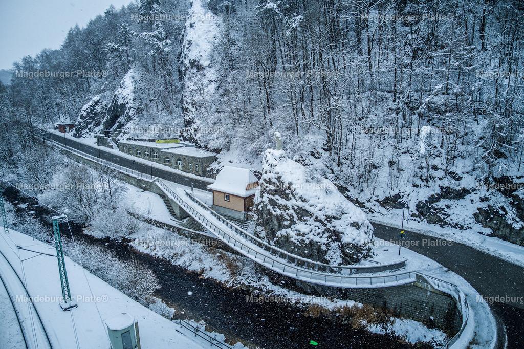 Rübeland Winter-0006 | Luftbilder aus der Vogelperspektive von Landkreis HARZ mit Drohne oder von oben fotografiert für die Bilddatenbank der Luftbildfotografie von Sachsen - Anhalt.