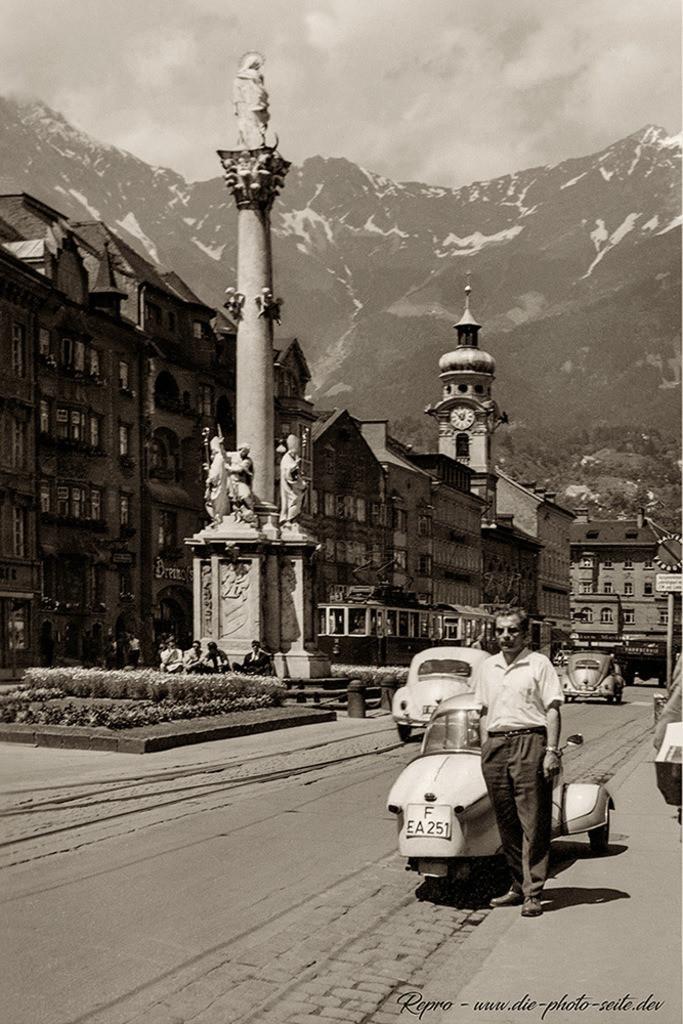 Messerschmidt Kabinenroller | Messerschmidt Kabinenroller in der Maria-Theresien-Straße von Innsbruck