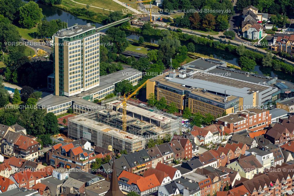Luenen15071898 | Blick auf den Stadtkern von Lünen mit dem Umbau des Hertie-Hauses, Lünen, Ruhrgebiet, Nordrhein-Westfalen, Deutschland