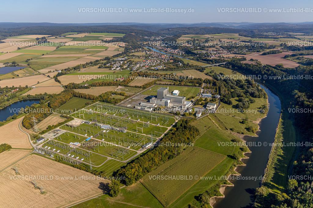 Beverungen200911517Wuergassen   Luftbild, Ehemaliges Kernkraftwerk Würgassen, Würgassen, Beverungen, Ostwestfalen-Lippe, Nordrhein-Westfalen, Deutschland