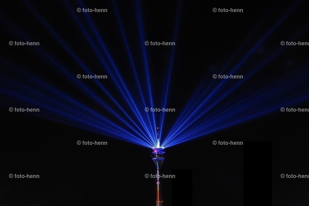 Lasershow in Düsseldorf | Lasershow vom Rheinturm