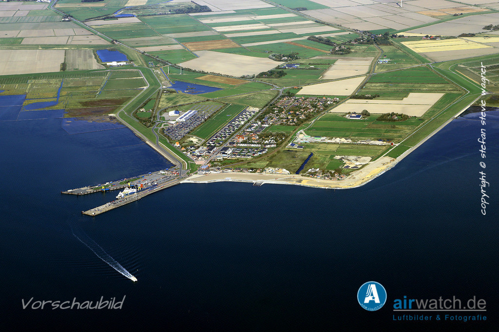 Luftbild, Nordsee, Dagebuell Mole, Bahnhof, Fähranleger, Schiffsanleger | Nordsee, Dagebuell Mole, Luftbild, Luftaufnahme, aerophoto, Luftbildfotografie, Luftbilder