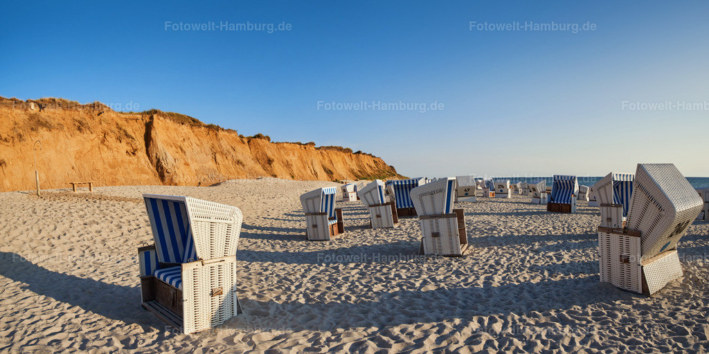 10180702 - Strand am roten Kliff | Strandkörbe am roten Kliff auf Sylt