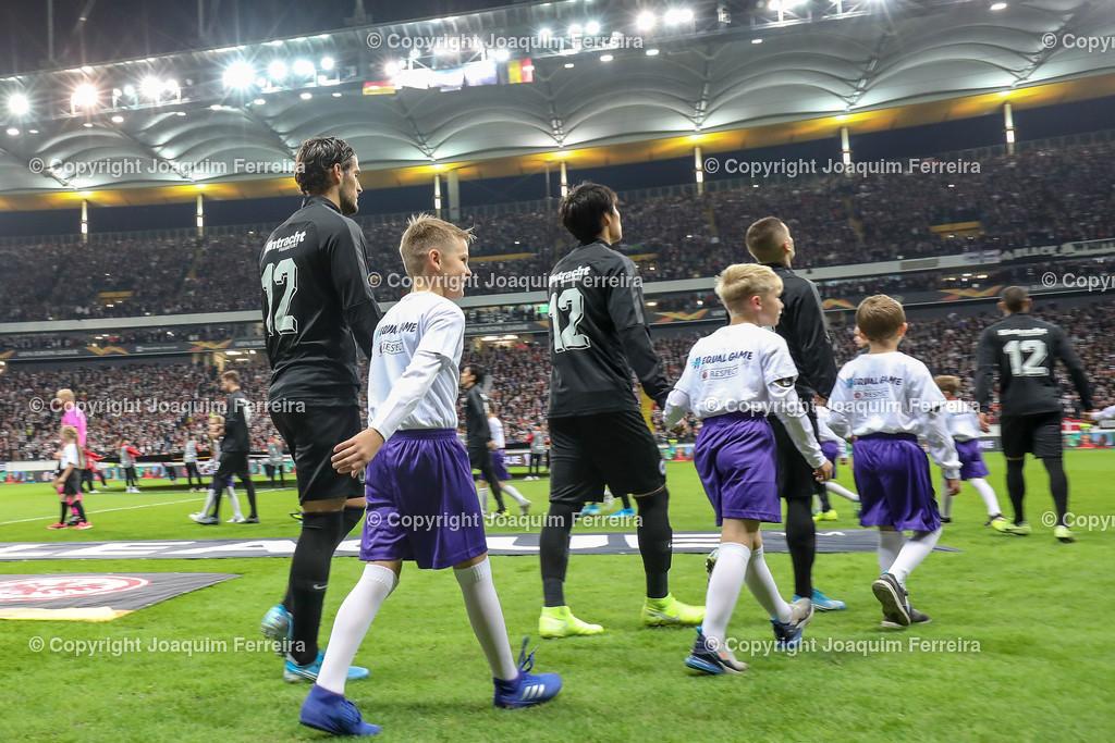 191024_sgevslie_5006 | 24.10.2019 Gruppenspiel Gruppe F UEFA Europa League Saison 2019/20 Eintracht Frankfurt - Standard Liege  emspor, emonline, despor, v.l.,   Foto: Joaquim Ferreira (DFL/DFB REGULATIONS PROHIBIT ANY USE OF PHOTOGRAPHS as IMAGE SEQUENCES and/or QUASI-VIDEO)