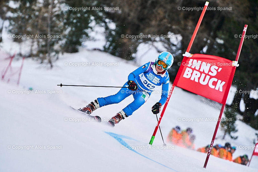 ALS5417_WWMG_GS-II_C | (C) FotoLois.com, Alois Spandl, WinterWorldMastersGames 2020 Innsbruck, Giant Slalom-II Gruppe C Damen, Patscherkofel Olympiaabfahrt, Mi 15. Jänner 2020.