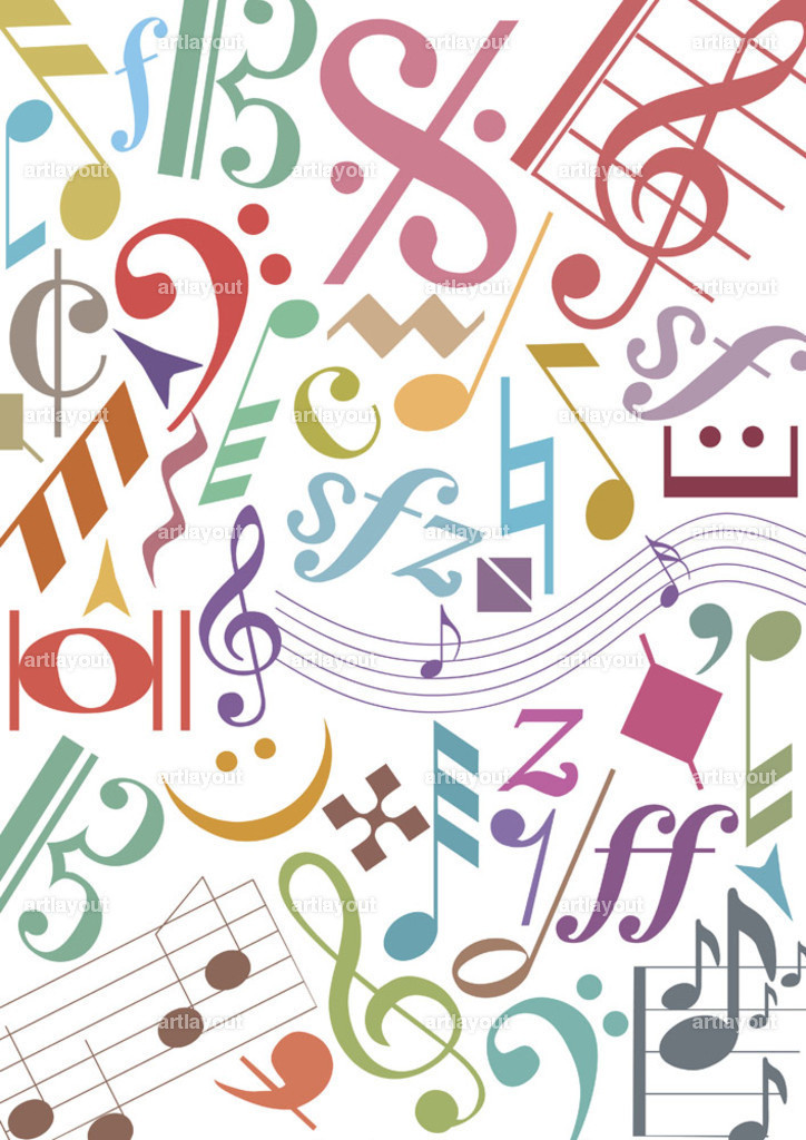 pastell music notes.ai